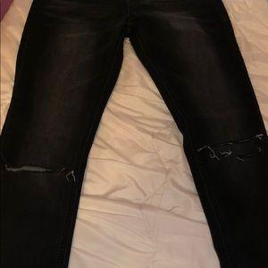 Boohoo Jeans - Faded distressed boohoo skinny jeans